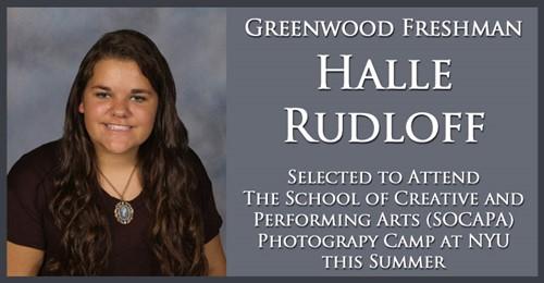 Rudloff to Attend Photography Camp at NYU - Greenwood High