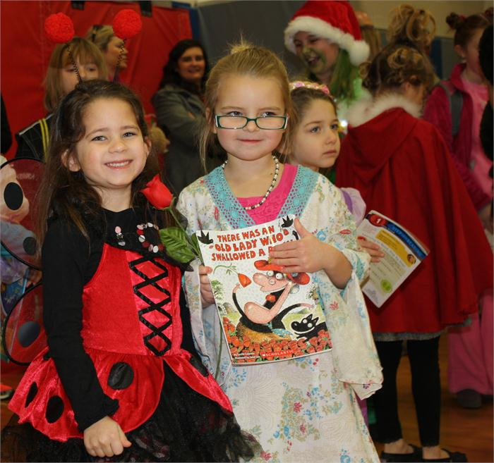 Students dressed as their favorite book characters.