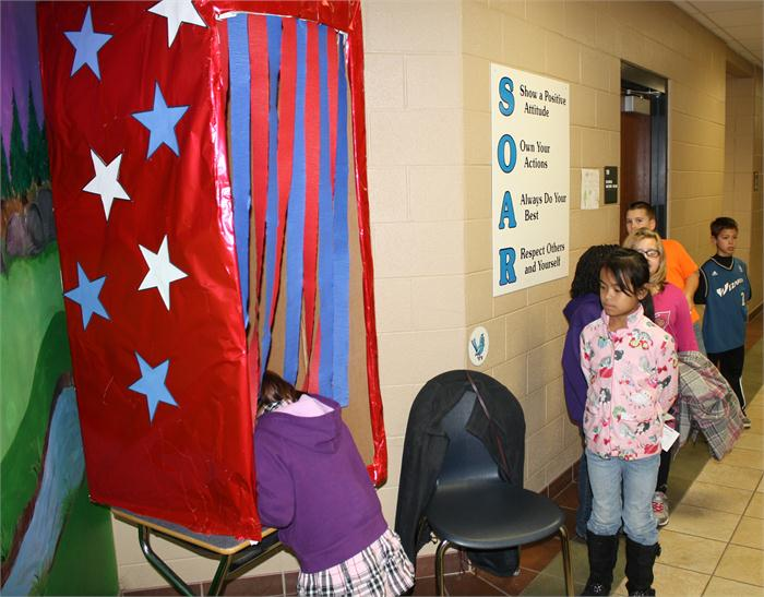 Amelia Cook's third grade class organized a Mock Presidential Election on Nov. 5.